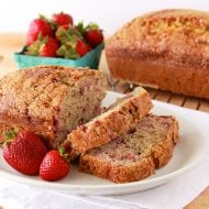 Strawberry Banana Bread Recipe | What's Cooking with Ruthie | TodaysCreativeBlog.net