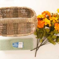 DIY Fall Floral Basket Door Decor