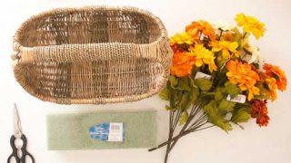 DIY Fall Floral Basket Door Decor