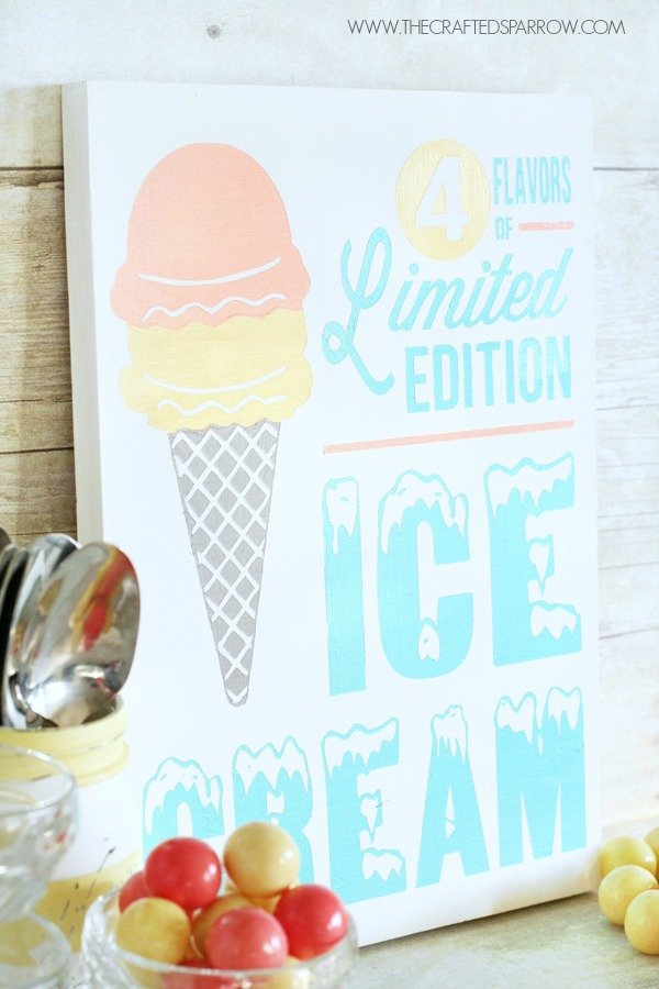 National Ice Cream Month with Cricut Explore™ - Design Star with Cricut | TodaysCreativeBlog.net