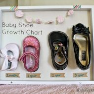 Baby Shoe Growth Chart DIY