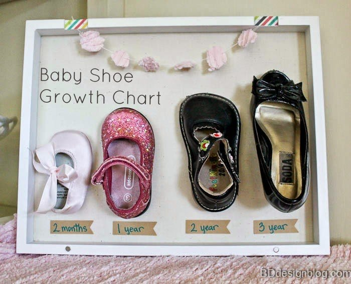 Baby Shoe Growth Chart Diy Today S Creative Life