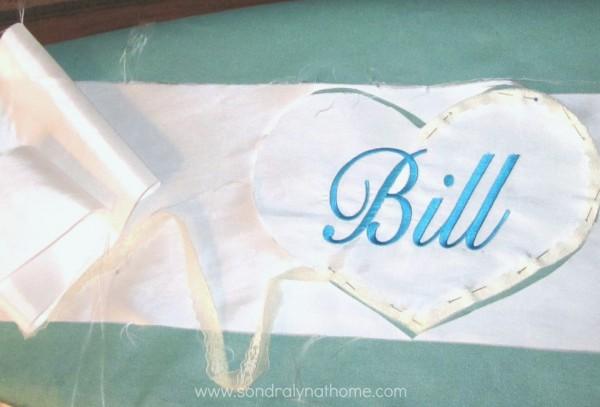 Wedding Dress Applique Keepsake by SondraLynAtHome | TodaysCreativeBlog.net