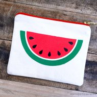 DIY Easy Watermelon Slice Pouch free stencil