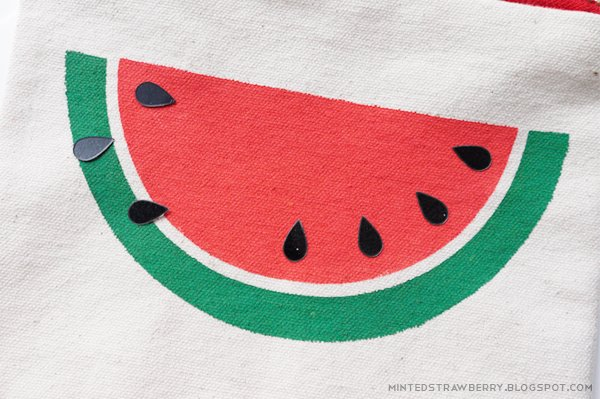 diy easy watermelon slice pouch free stencil today s creative life