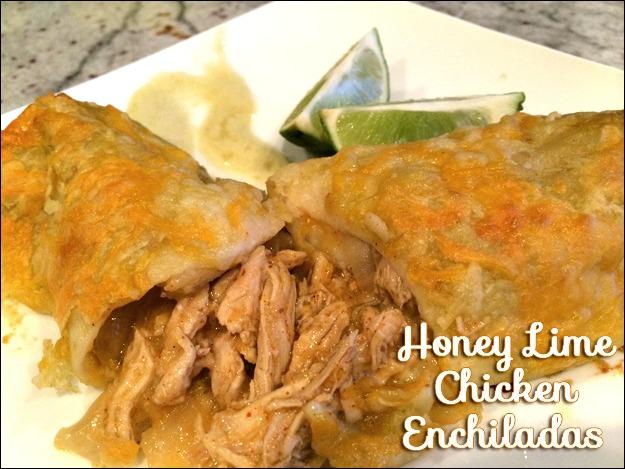 Honey Lime Chicken Enchiladas | TodaysCreativeBlog.net