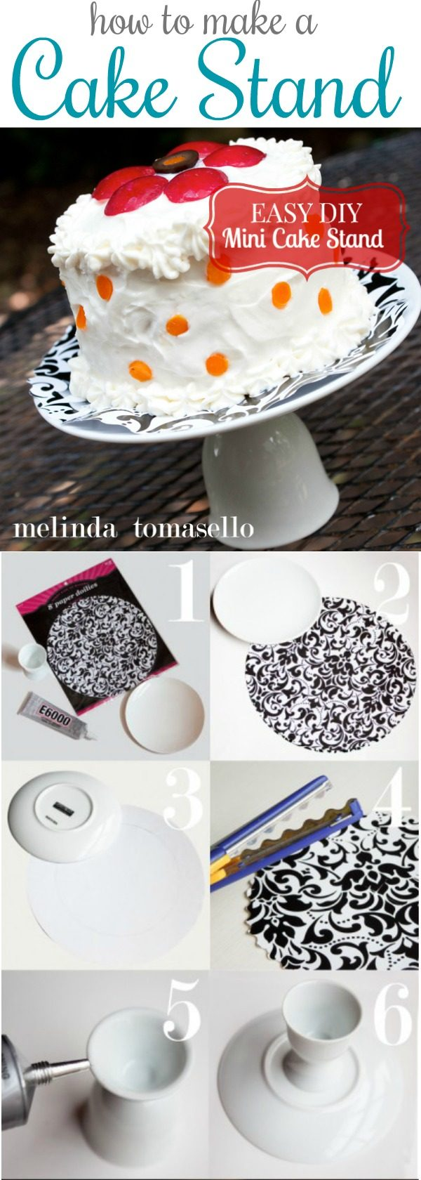 Easy DIY Mini Cake Stand | How to make a cake stand | Easy Craft Idea | Party planning | TodaysCreativeLife.com