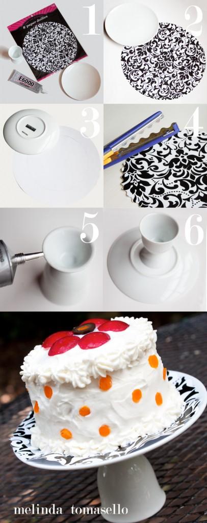 Easy DIY Mini Cake Stand by MelindaTomasello.com | TodaysCreativeBlog.net