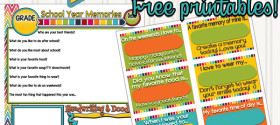 Printable School Memories and Lunchbox Notes | TodaysCreativeBlog.net