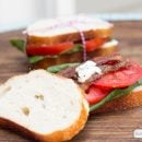 Gourmet BLT with Peppered Bacon | TodaysCreativeBlog.net