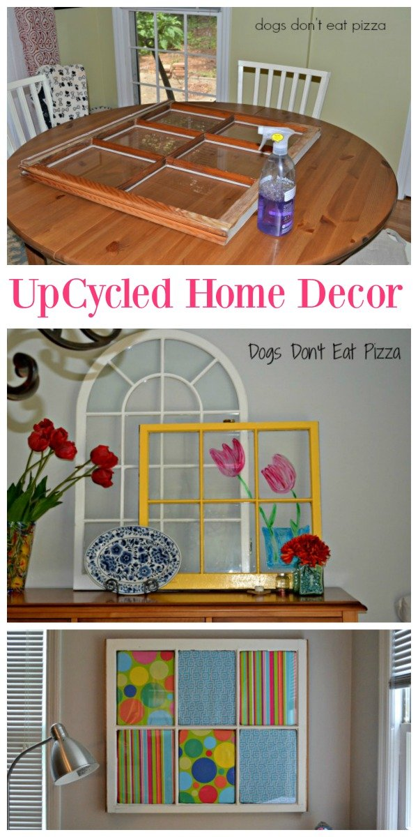 Upcycled Home Decor | DIY thrift store and yard sale items into beautiful home decor. Guest post by Dogs Don't Eat Pizza for Today's Creative Life