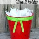 Watermelon Utensil Holder | TodaysCreativeBlog.net