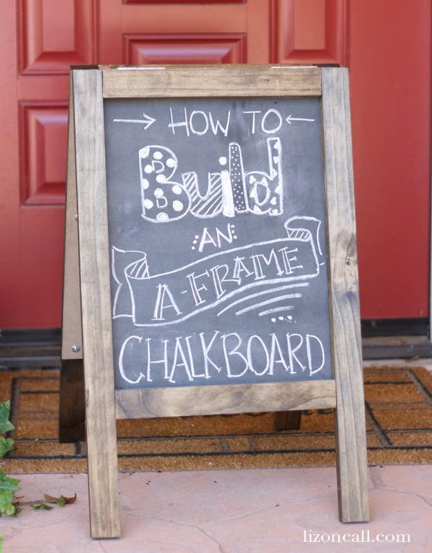 Diy Chalkboard Sandwich Board Today S Creative Life