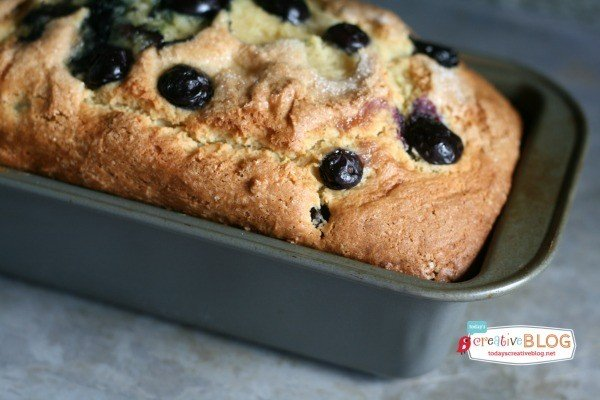 Blueberry Lemon Bread with Lemon Glaze | This quick bread is bursting with flavor! See the recipe on TodaysCreativeLife.com
