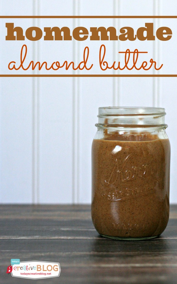 How To Make Almond Butter | Homemade almond butter is easy to make! Using your food processor or VitaMix makes it easy to make nut butters in a few minutes. See how on TodaysCreativeLife.com