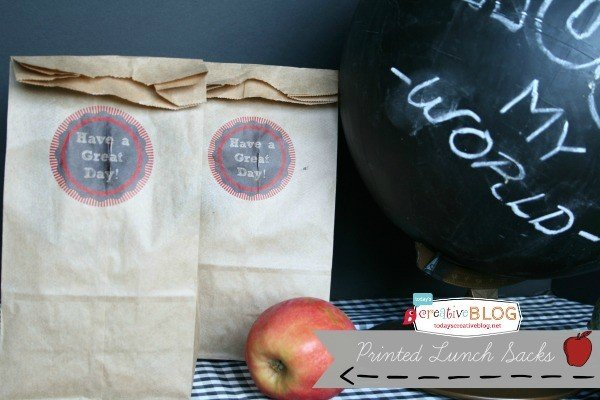 Printable Lunch Bags | TodaysCreativeBlog.net