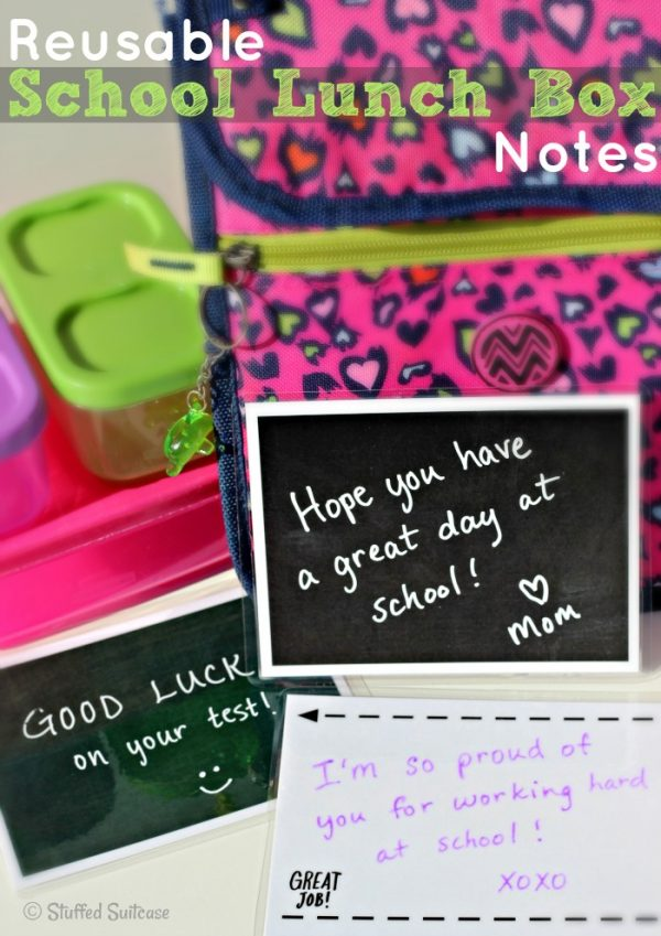 Reusable Lunch Box Notes | TodaysCreativeBlog.net