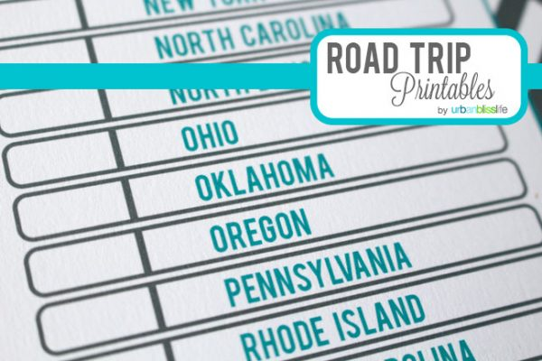 Travel Printables For Kids Road Trip Games