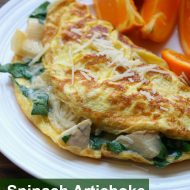 Spinach Artichoke Omelet | TodaysCreativeBlog.net