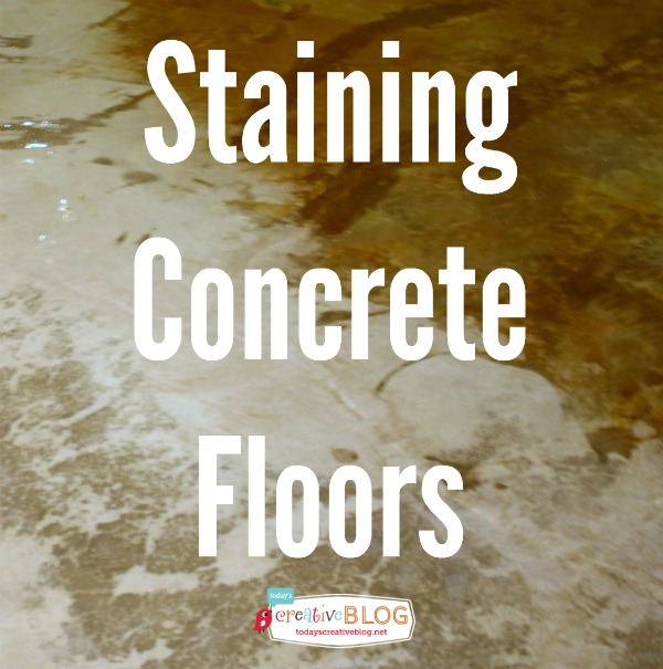 Staining Your Concrete Floor