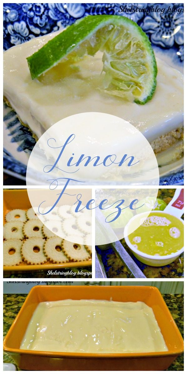 Creamy Limon Freeze Recipe | Lime and Lemon Dessert Ideas | Frozen Dessert ideas | TodaysCreativeLife.com
