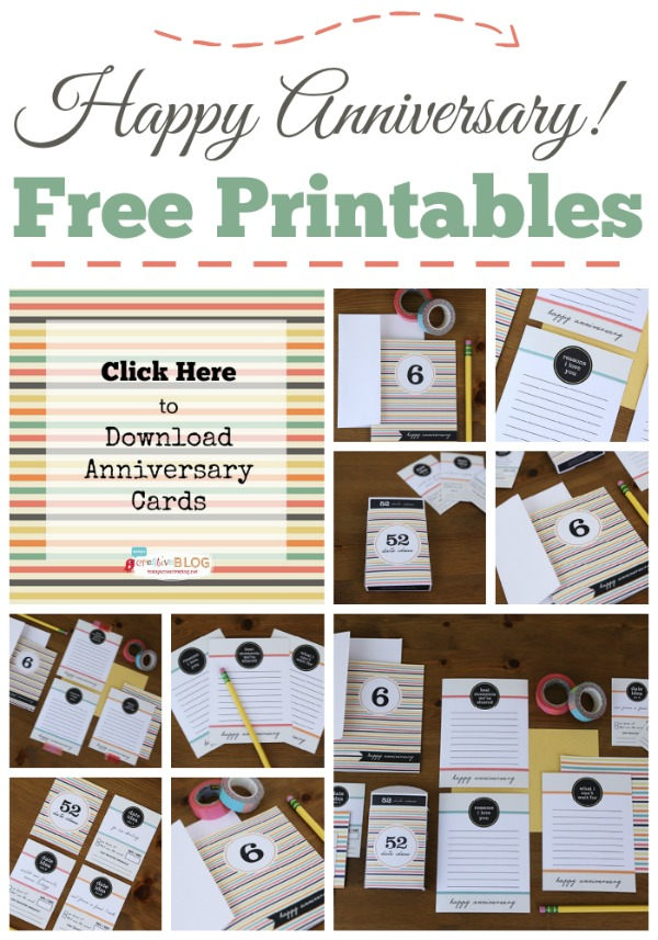 Printable Happy Anniversary Cards {editable} - Today's ...
