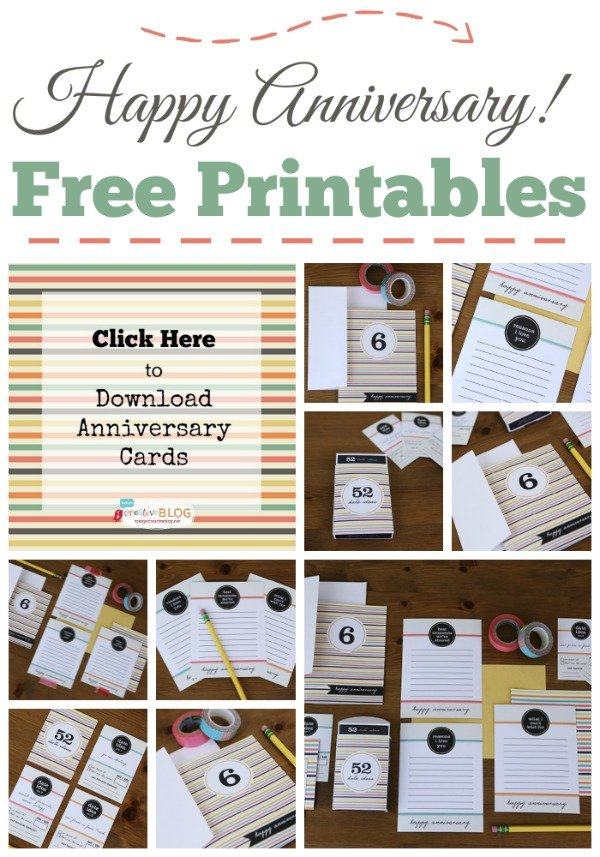 Printable Happy Anniversary Cards {editable} | Today\'s Creative Life