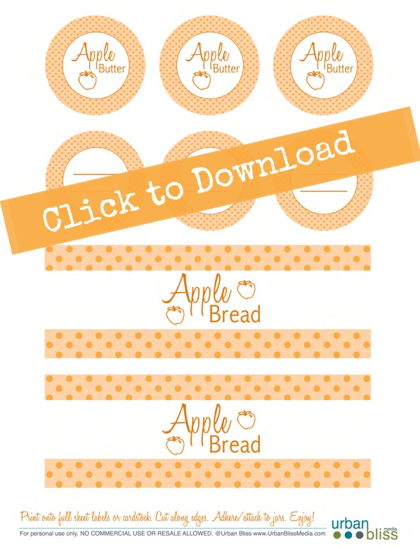 Free Printable Labels designed by Urban Bliss Life