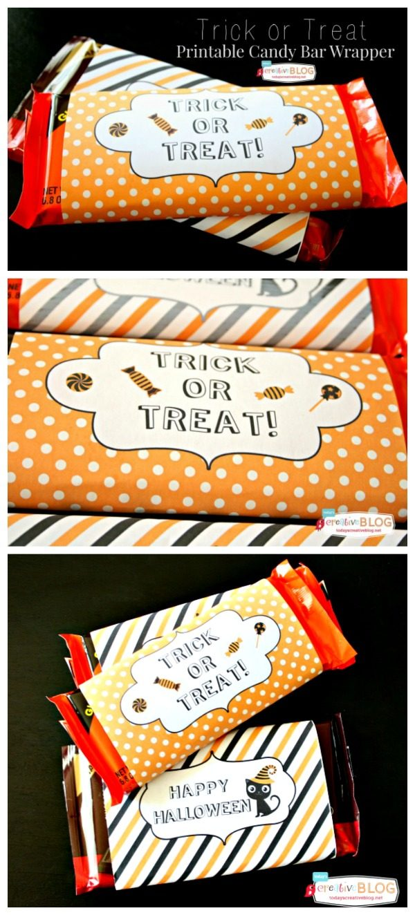image relating to Free Printable Candy Bar Wrappers named Halloween Printable Sweet Bar Wrappers Todays Innovative Daily life