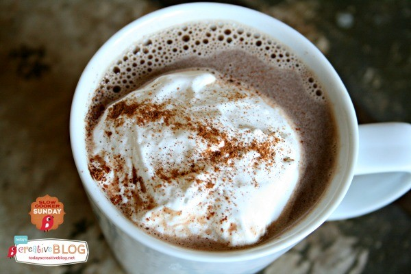 Nutella White Chocolate Hot Cocoa | TodaysCreativeLife.com