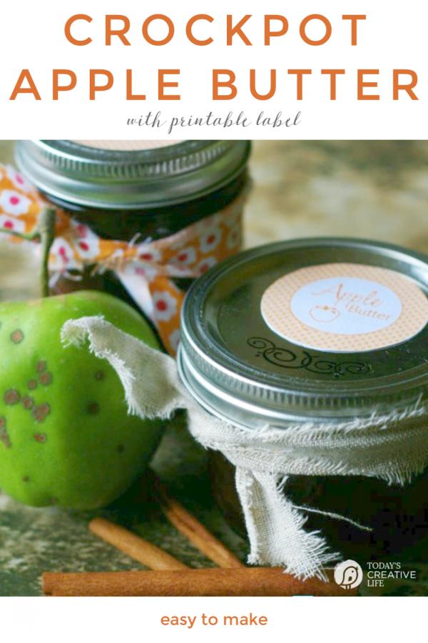 Jar of homemade apple butter | todayscreativelife.com