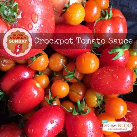 Crockpot Tomato Sauce | Slow Cooker Sundays | TodaysCreativeBlog.net