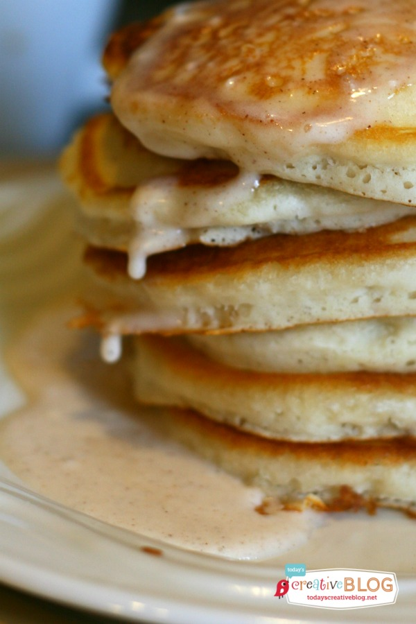 Pumpkin Glaze on Pancakes | TodaysCreativeBlog.net