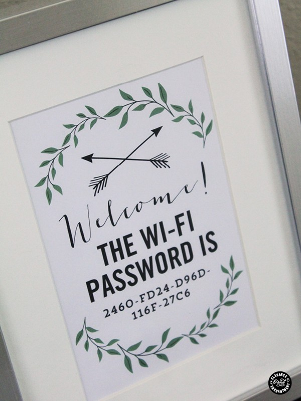 Wifi Password Free Printable for your Guest Room | TodaysCreativeLife.com
