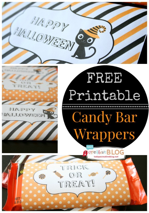 Halloween Printables - Candy Bar Wrappers | TodaysCreativeLife.com