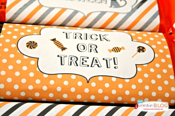 Halloween Printable Candy Bar Wrappers | Today's Creative Life