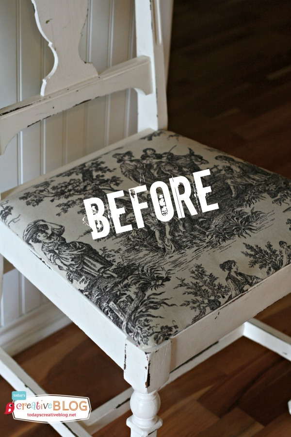 Recovering Dining Room Chairs | Painted Drop Cloths - Recovering Dining Chairs | TodaysCreativeLife.com