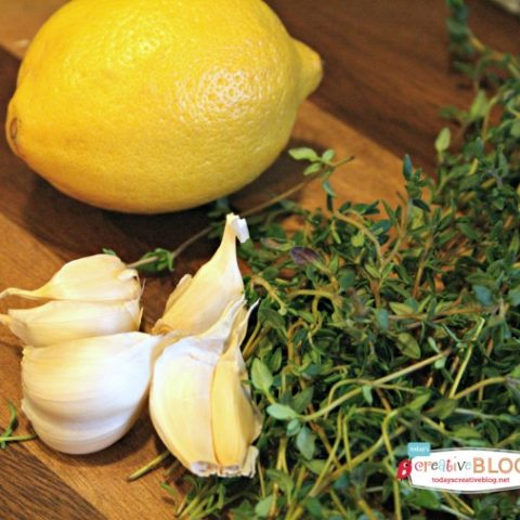 Crockpot Lemon Garlic Whole Chicken