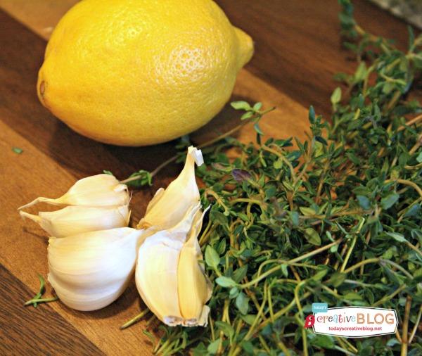 Slow Cooker Sunday  Lemon Garlic Whole Chicken  TodaysCreativeBlog.net