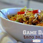 Game Day Taco Salad | TodaysCreativeBlog.net