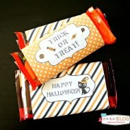 Halloween Printable Candy Bar Wrappers