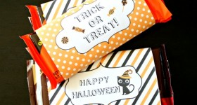 Halloween Printable Candy Bar Wrappers | TodaysCreativeBlog.net