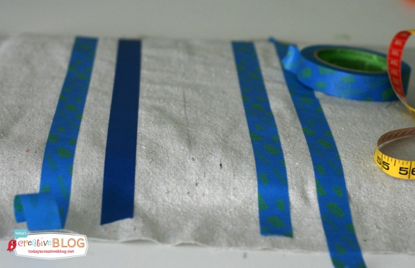 Painted Drop Cloths - Recovering Dining Chairs | TodaysCreativeBlog.net