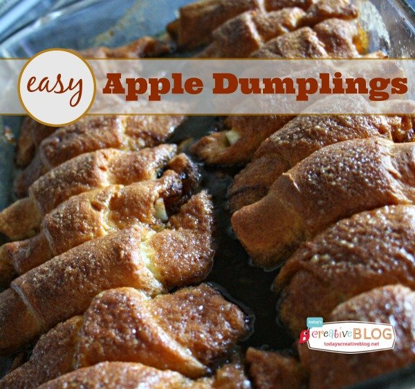 titled photo (and shown): easy apple dumpling recipe