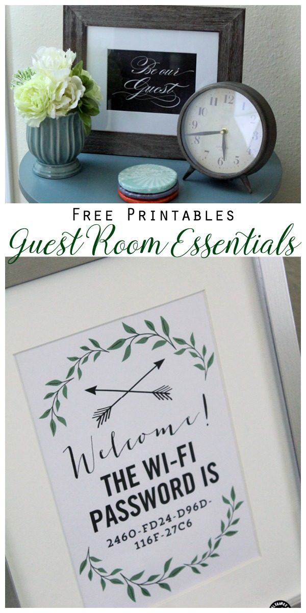 10 Guess Room Essentials and Tips | WiFi Password Free Printable | Guest Bedroom Ideas | What Every Guest Bedroom Should Have | TodaysCreativeLIfe.com