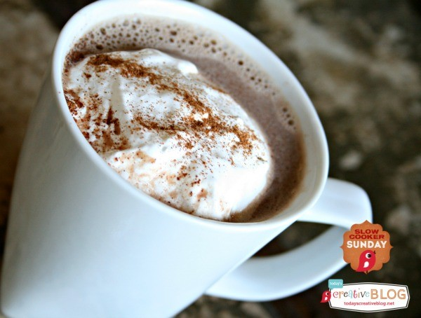 slow cooker hot chocolate TodaysCreativeLife.com