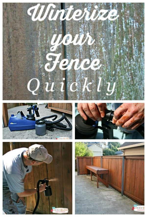 Winterize Your Fence | Follow my easy tips for getting your fence prepped for those Winter months. TodaysCreativeLife.com