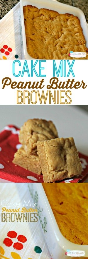 Cake Mix Peanut Butter Brownies photo collage