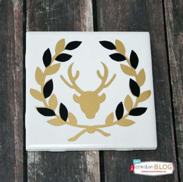 Holiday Gift Ideas - DIY Coasters   Tutorial on TodaysCreativeLife.com