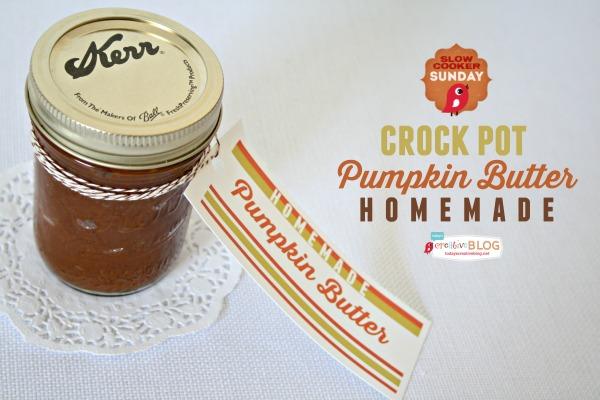 Crock Pot Pumpkin Butter Recipe | TodaysCreativeBlog.net